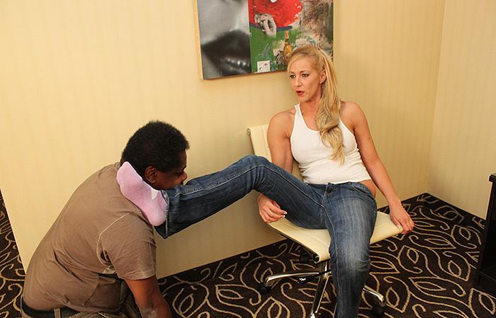 Black Footdom Slave